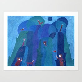 Finding someone special Art Print