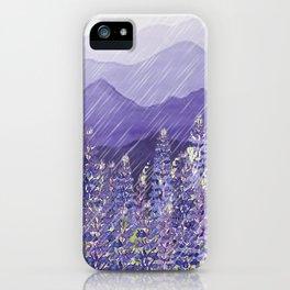 Purple Mountain Rain iPhone Case