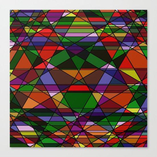 Stain Glass Mosaic Dark Canvas Print