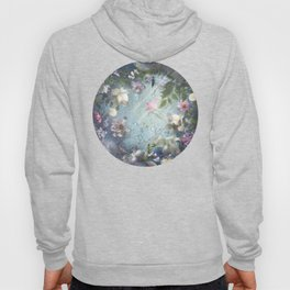 Flowers and Waters in Pale Pink and White Hoody
