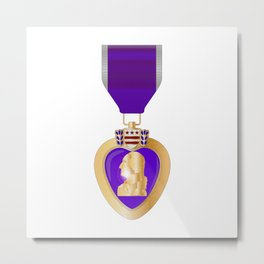 Purple Heart Medal Metal Print
