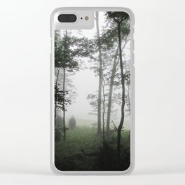 Misty Morning in the Woods of Cades Cove Clear iPhone Case