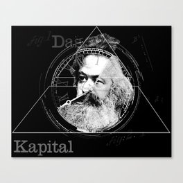 The Time of Marx Dark Canvas Print
