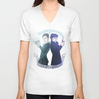 enerjax V-neck T-shirts featuring Benedict Cumberbatch as Hamlet x Sherlock by enerjax