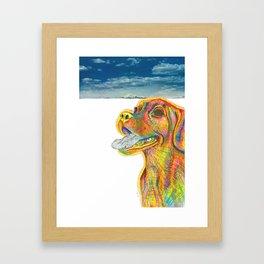 Puggle Power Framed Art Print