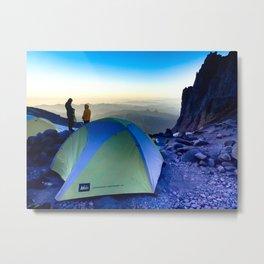 Summit Day Preps- Mt Rainier Metal Print