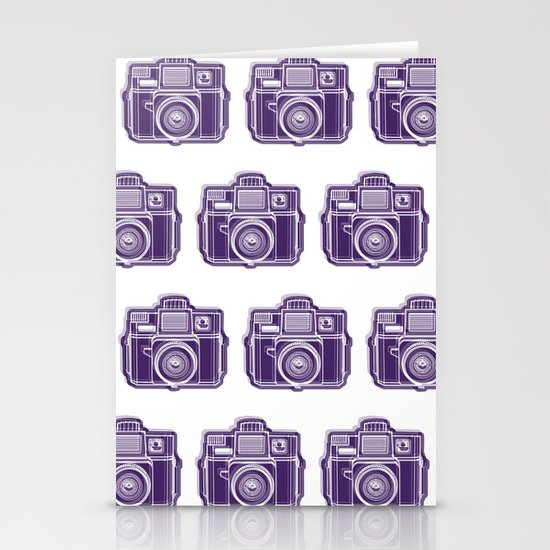 I Still Shoot Film Holga Logo - Deep Purple Stationery Cards