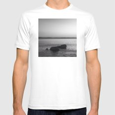 Black Rocks White MEDIUM Mens Fitted Tee