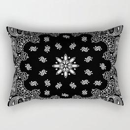 black and white bandana pattern Rectangular Pillow