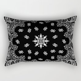 black and white bandana pattern Rectangular Pillow