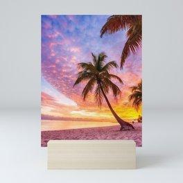 Rainbow Paradise Beach Mini Art Print