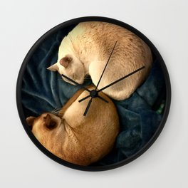 ying and jang Wall Clock
