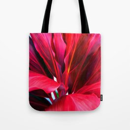Red Ti Leaf Tote Bag