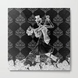 Gothic Last Dance Skeletons Metal Print