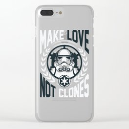 make love not clones   Stawars Clear iPhone Case