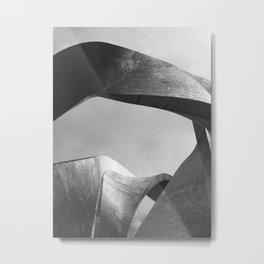 Steel Sculpture Metal Print