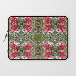 Very Berry Holly Christmas Multi Fractal from Photo 803 Laptop Sleeve