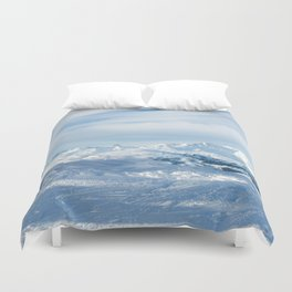 Mountain rescue station Duvet Cover