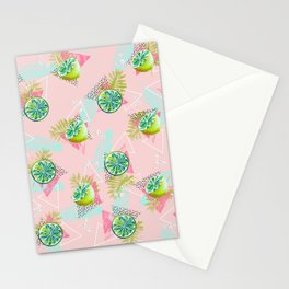 Tropical lemons party Stationery Cards
