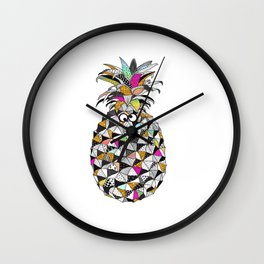 Pineapple with googly eyes Wall Clock