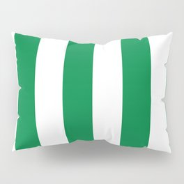 Classic Cabana Stripes in White + Kelly Green Pillow Sham