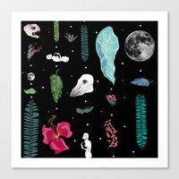 jungle Canvas Prints featuring Jungle by Sydney Holland