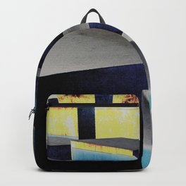Yellow and blue futuristic cubes Backpack