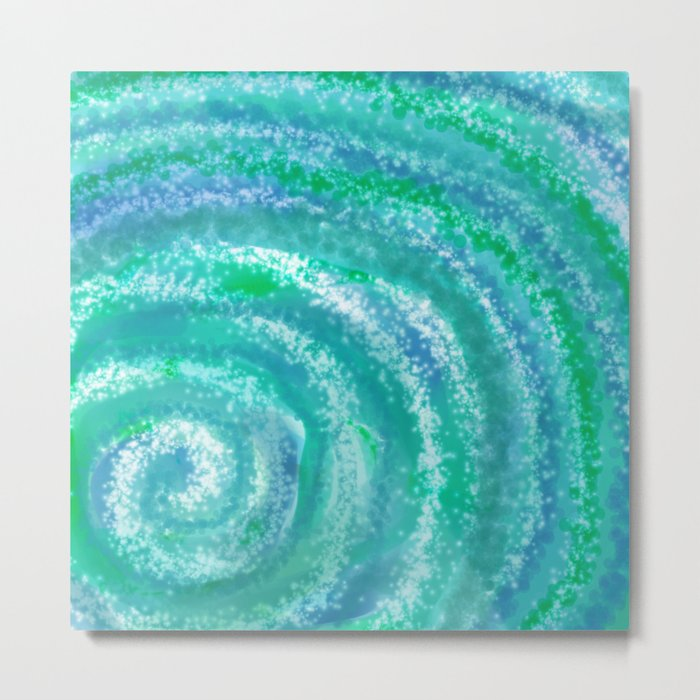 Swirling Blue Ocean Waters - Abstract Metal Print