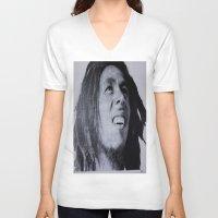 marley V-neck T-shirts featuring Marley  by DreWalks