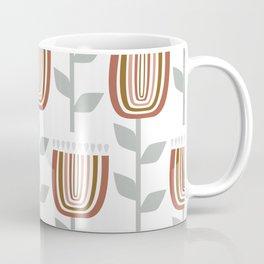Stylish Abstract Floral Rainbow Pattern Coffee Mug