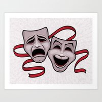 Comedy And Tragedy Theater Masks Art Print