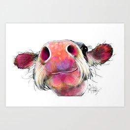 NoSeY CoW ' DuMPLiNG ' BY SHiRLeY MacARTHuR Art Print