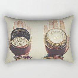 Tibetan bowls Rectangular Pillow