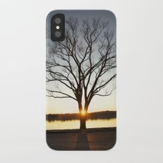Sunset Between a Tree iPhone X Slim Case