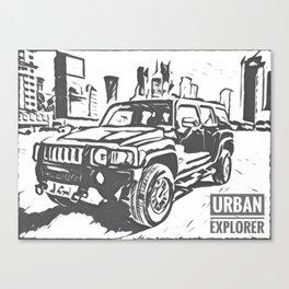 Urban Explorer - Hummer H3 Scetch Canvas Print