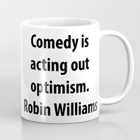 robin williams Mugs featuring Robin Williams by The Sign Factory