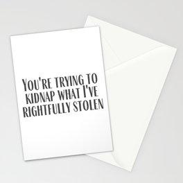 Rightfully Stolen Stationery Cards