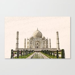 ArtWork Taj Mahal India Paint Painting Canvas Print