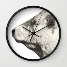 Bovine Profile Wall Clock