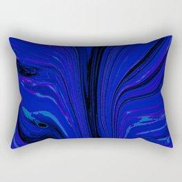 pull, blue Rectangular Pillow