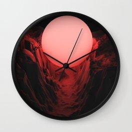 Valley   Sun   Mountains Wall Clock