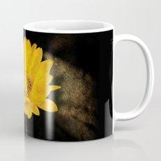 Beautiful Sunflower with Dark Brown Background Mug