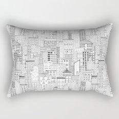 City Doodle (white) Rectangular Pillow