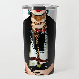 Frida Kahlo Mexican Artist Feminist Art Travel Mug