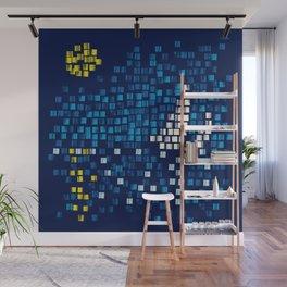 Mediterranean Blue Mosaic Wall Mural