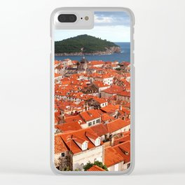 Old Town of Dubrovnik and Lokrum Island Clear iPhone Case