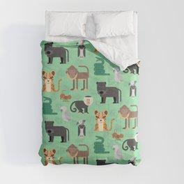 Amazon Jungle Animals Pattern Comforters