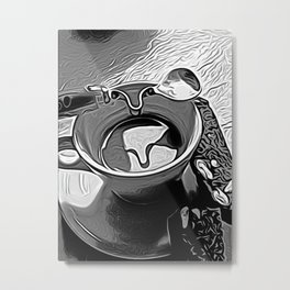 Coffee on my mind by David Brier Metal Print