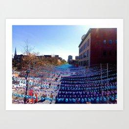 City colors - Montréal Art Print