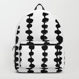 Linocut black and white dots pattern minimalist home decor nursery trendy dotted pattern Backpack